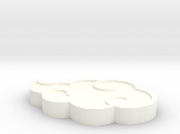 Akatsuki cloud pendant 3d printed