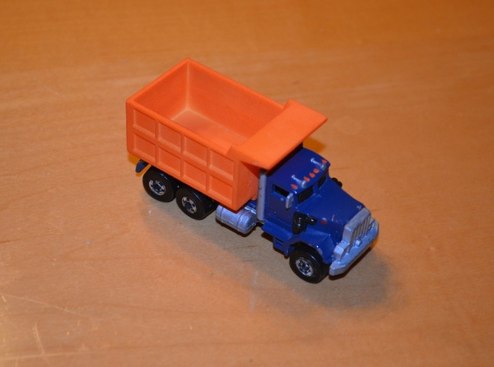 Hot Wheels Mack Truck Dumpbed V2.0 3d printed Image is of version 1.0. Version 2.0 has it's width and height reduced to be closer to scale