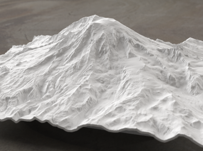 8'' Mt. Rainier, Washington, USA 3d printed Radiance rendering