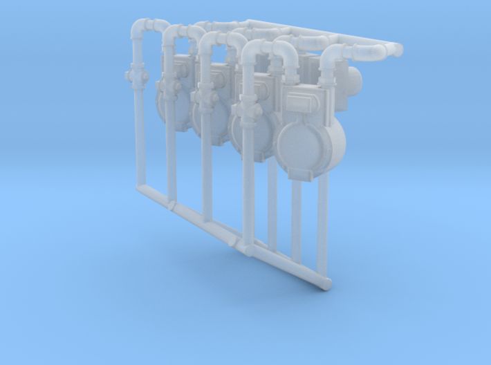 Gas And Electric Meters X4 O Scale 1/48 3d printed