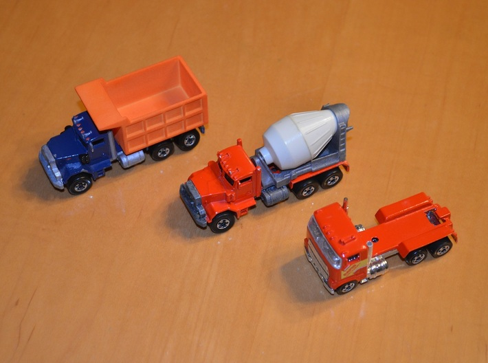 Hot Wheels Mack Truck Dumpbed V2.0 3d printed The dumpbed can work on other Hotwheel models besides the Mack truck.