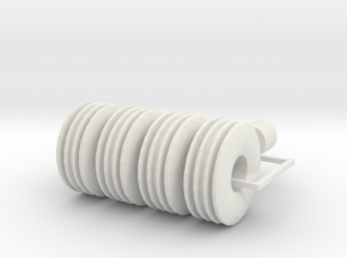 1/64 12.5L 15 wheel implement and tire pack of fou 3d printed