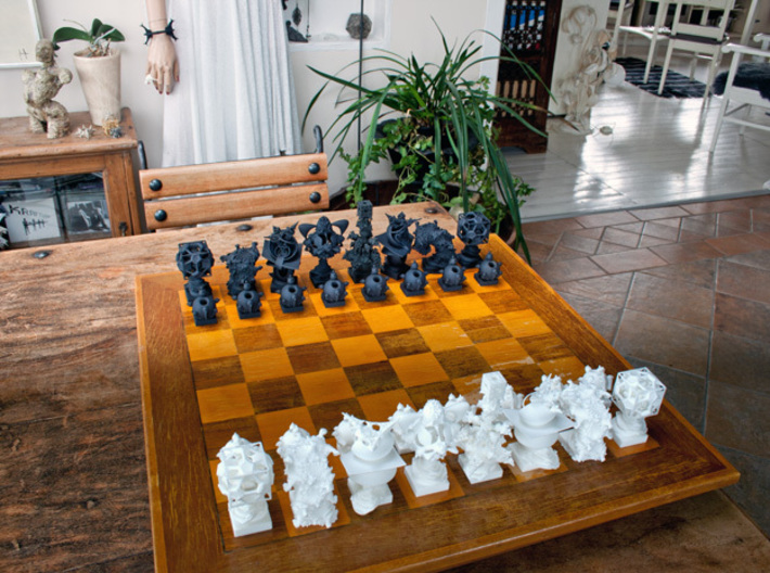 Surreal Chess Set - My Masterpieces - The Knight 3d printed The Full Set