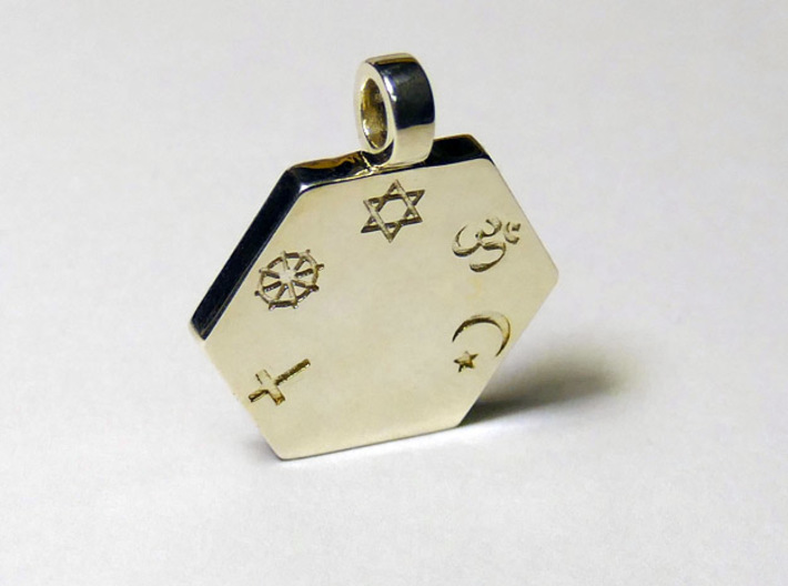 Statement for Peace: Jewish pendant 3d printed