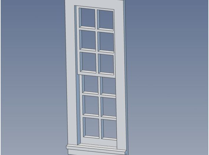 PEIR HO Scale Standard Booking Station Window Set 3d printed