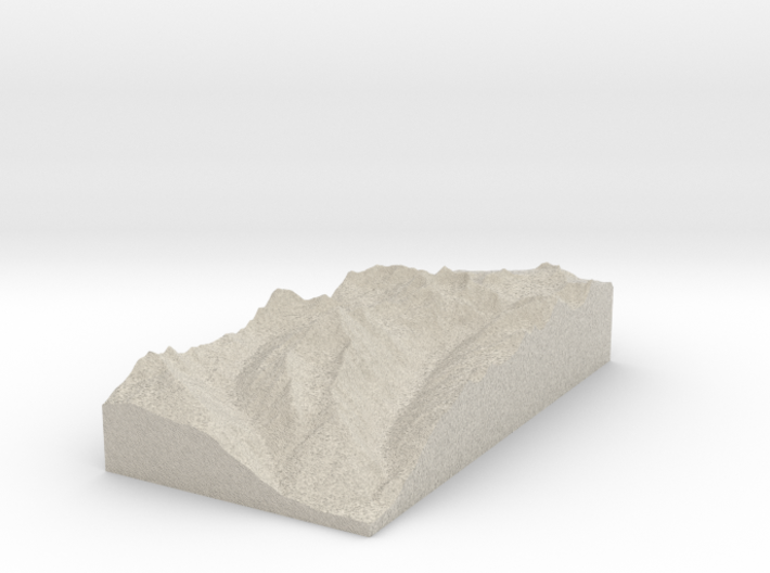 Model of Piz Sagliains 3d printed