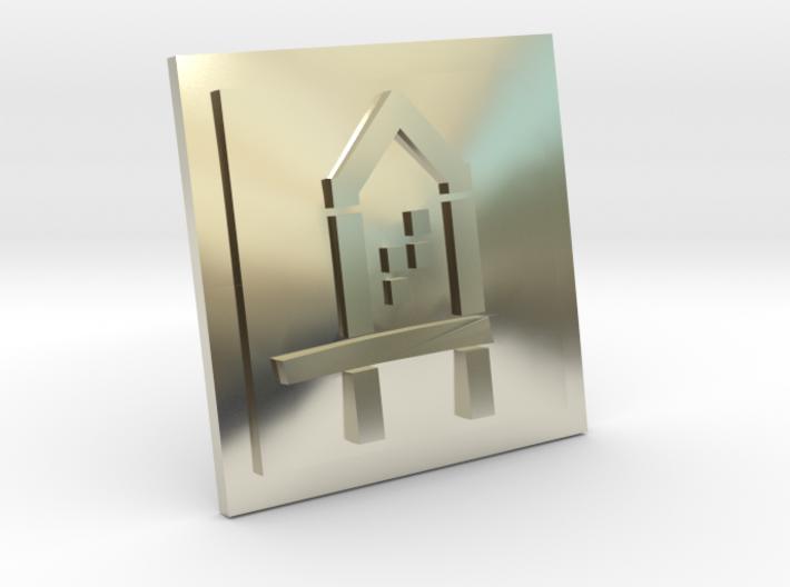 House Cufflinks 3d printed