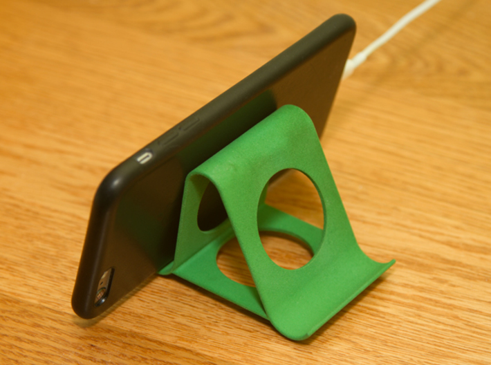 iPhone stand 3d printed iPhone 6 plus rear view