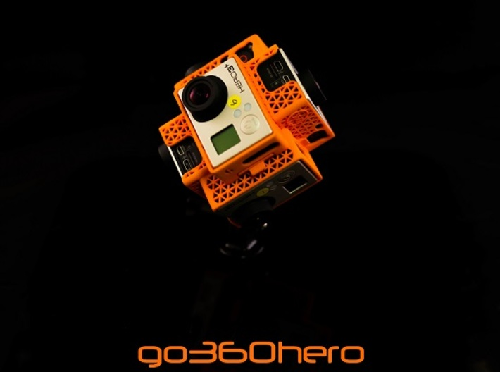 go360hero: GoPro 360x180 360 Video Camera Mount -  3d printed Spherical Panorama GoPro Mount Tiny Planet Accessories Cases 360 3d 360 3d video 360* 360 panoramic 360hero 360heros 360x180 6 gopro 6 gopros camera CAMS approved capture life drone flying gear gopro gopro 3 gopro black edition gopro holder gopro mount go