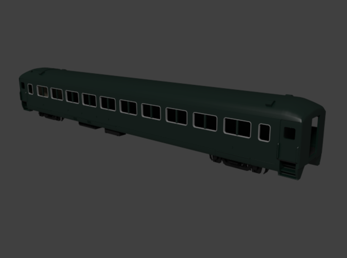 New Haven lwt. coach, Intercity 8200 series 3d printed Rendered in Blender