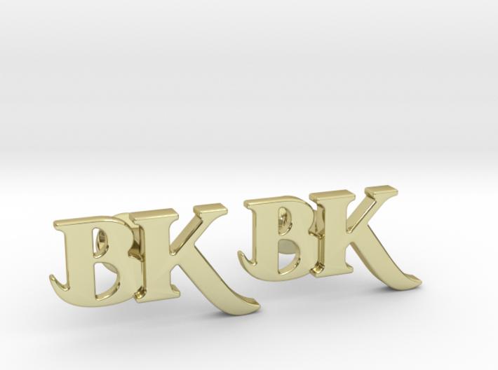 Monogram Cufflinks BK 3d printed