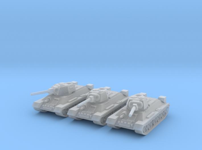 1/220 T-34 tanks (3) 3d printed