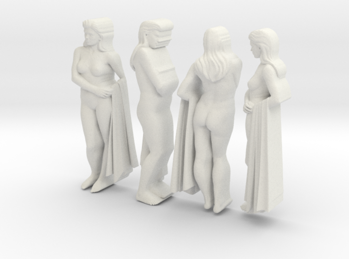 classic female statue 4 views 3d printed