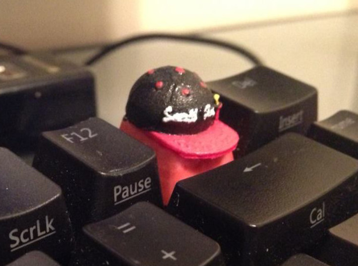 Cherry MX Small Fry Keycap 3d printed Smallfry Tribute keycap hand painted by Cherpalla