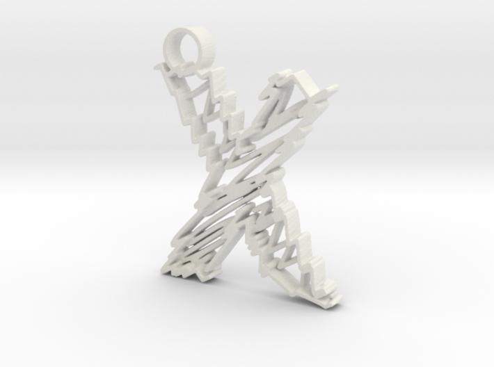 "Sketch ""X"" Pendant 3d printed"