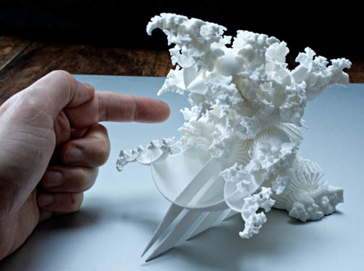OrnaMENTAL Fractal Sculpture 3d printed BEWARE !- It might bite!