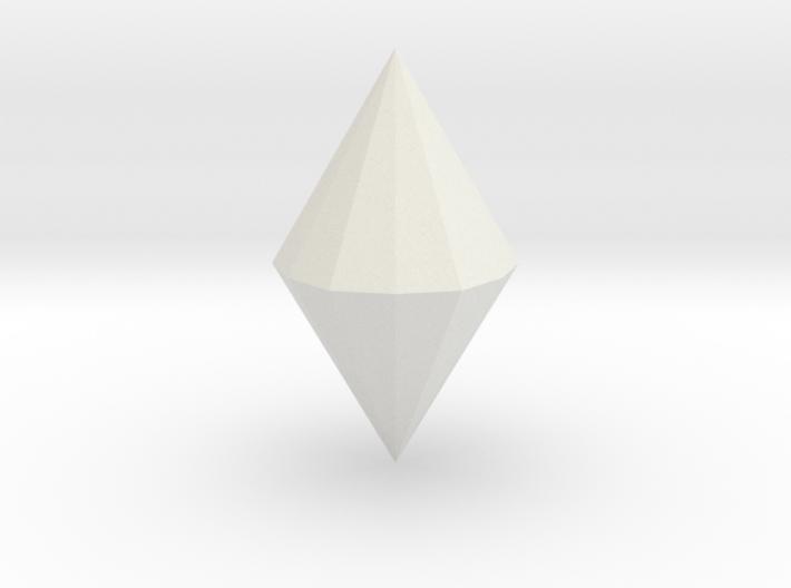 Dihexagonal dipyramid 3d printed