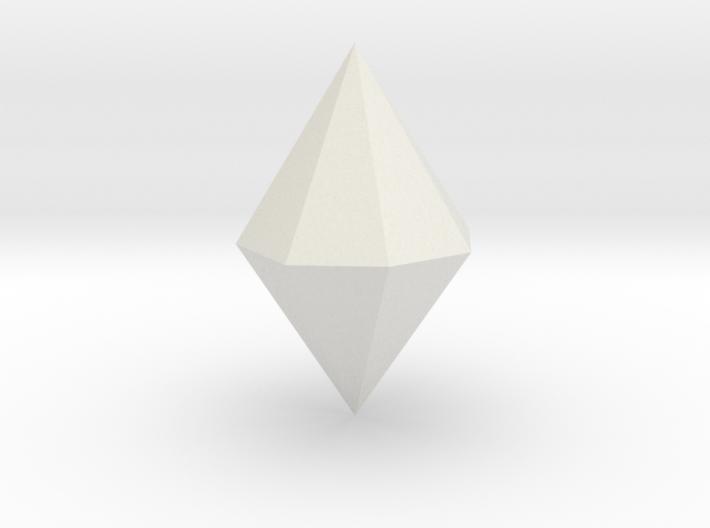 Ditetragonal dipyramid 3d printed