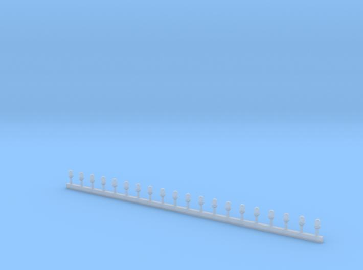 Stabblaulichter ähnlich der Roco Größe 3d printed