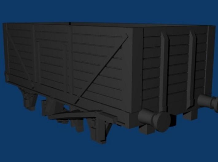 High Goods Wagon - 8 Plank Z 1:220 3d printed