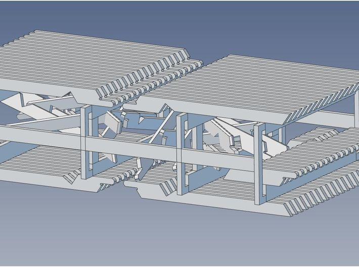 HO Scale PEIR Booking Stn Rafter Set 3d printed