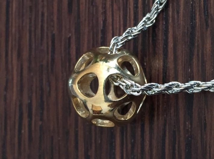 Equilibrium 3d printed Polished Brass