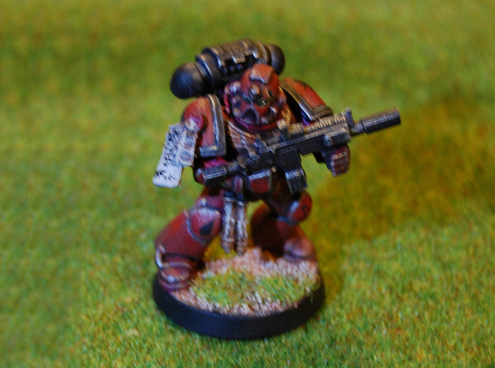 10x - ARK5-L (Bolter) 3d printed Space Marine with ARK5-L
