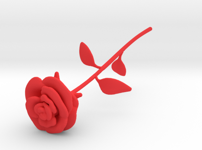 Rose 3d printed Rose Red Shapeways render