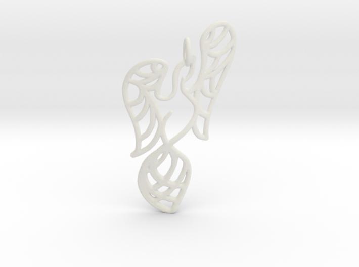 Openwork phoenix Pendant 3d printed
