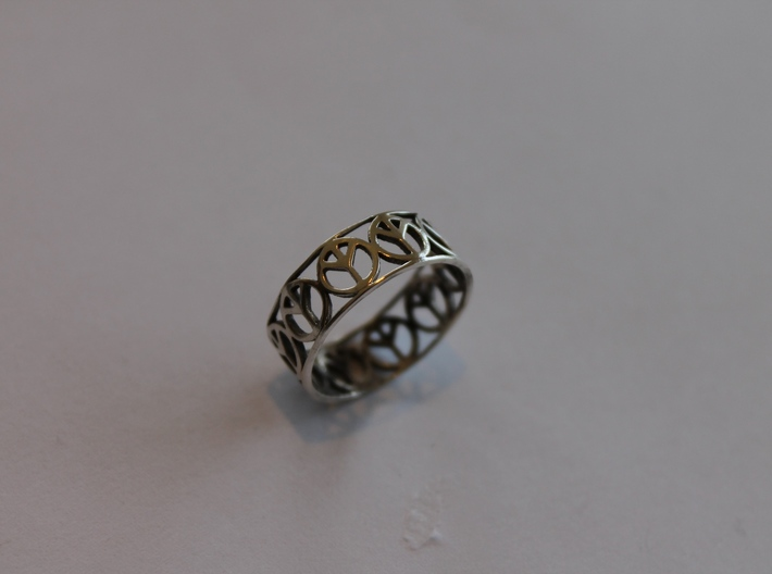 8 Peace Ring Ring Size 7 3d printed