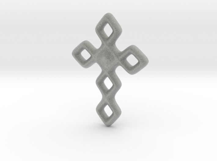 Cross necklace 3d printed