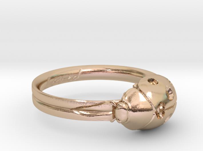 Ladybug 'Loved' Ring 3d printed