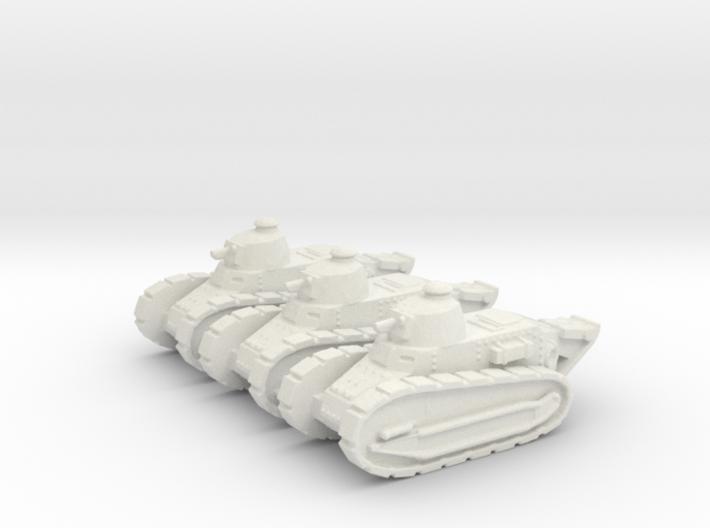1/144 Renault FT tank (3 pieces) 3d printed