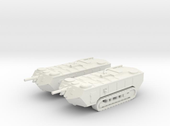 1/144 WW1 Saint Chamond tank 3d printed