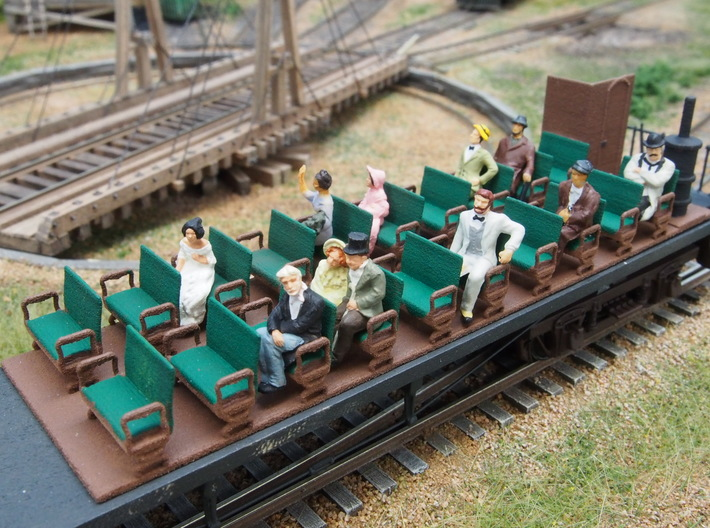 HO scale 1/87 interior for Labelle Combine HO-12  3d printed Add a caption...