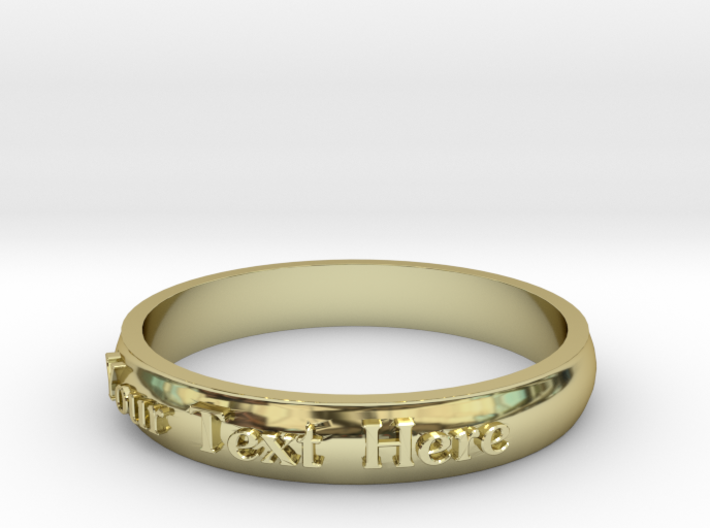 """Ring ' Your Text Here' - 16.5cm / 0.65"""" - Size 6 3d printed"""