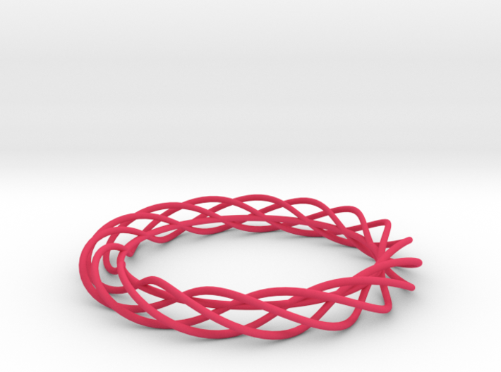 Twist Bangle A01L 3d printed