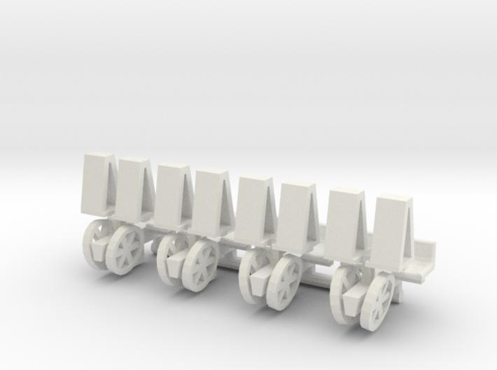 1/64 Mechanical Transplanter, set of 4 3d printed