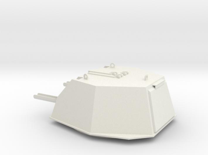 1:16 scale model of DShKM-2BU turret for Soviet WW 3d printed