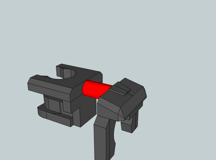 Generations BB and Sleuthing Robot Neck Extension 3d printed Clip the red parts away before use