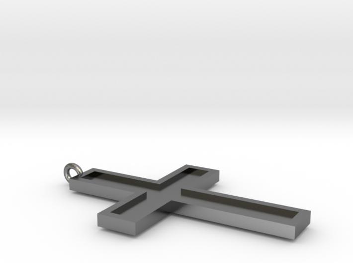 Metal Cross 3d printed