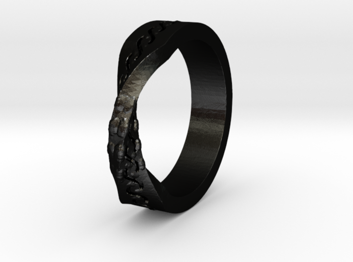 Infinity Wedding Band 3d printed
