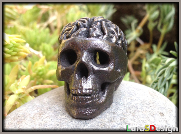 Brain Skull Pendant 3d printed OLD Version