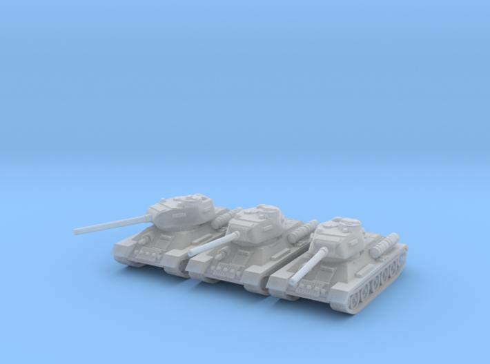1/220 T-34-85 tank 3d printed
