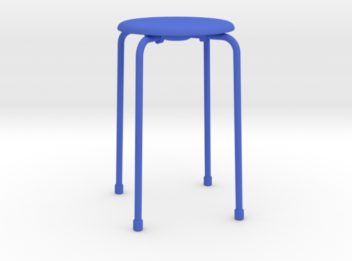 Dot Style Stacking Stool 1/12 scale 3d printed