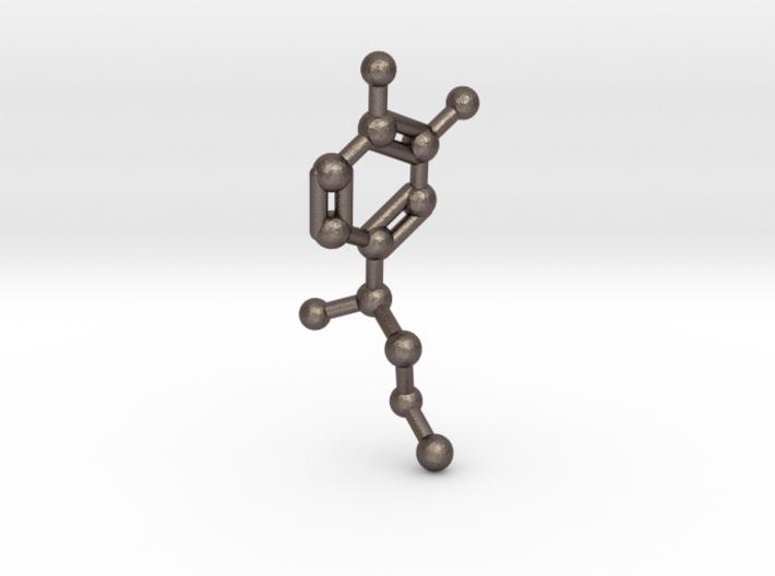 Adrenaline Molecule Necklace Keychain 3d printed