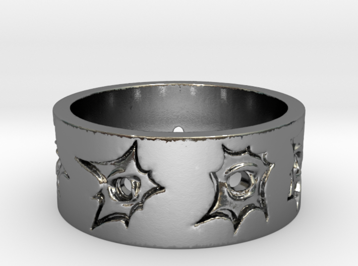 Outlaw Bullet Holes Ring Size 12 3d printed