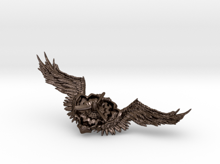 Wings badge 3d printed