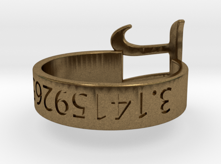 PI RIng Silver Size 6 3d printed