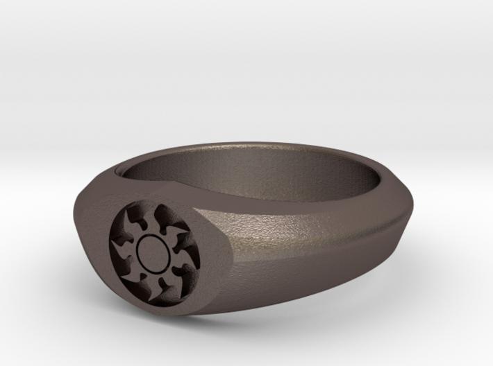 MTG Plains Mana Ring (Size 15 1/2) 3d printed